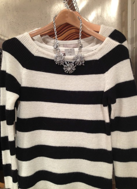 bw striped sweater